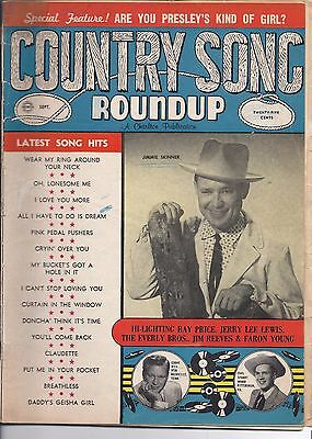 Country song Roundup #56 Sept 1958