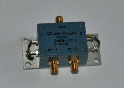 Mini Circuits ZMSW-1211 (50ohm SPDT Pin diode switch 10MHz to 2.5GHz)