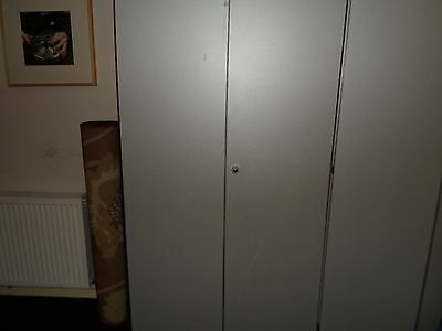 1 x Storage Cupboard Tall Grey with 4 metal Adjustable Shelves & Suspension File