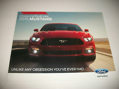2015 Ford Mustang Introductory Early Issue Sales Brochure Clean No Dealer Stamp