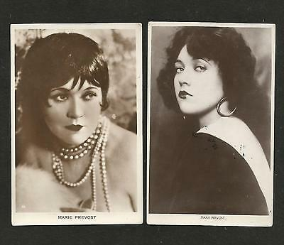 2 x VINTAGE B/W REAL PHOTOGRAPH POSTCARDS MARIE PREVOST