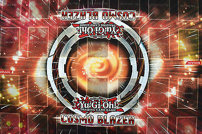 Yu-gi-oh! Yugioh Cosmo Blazer 2 Player Double Rubber Playmat NEW