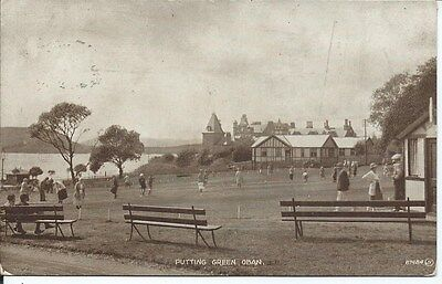 OBAN Early RP Postcard Putting Green Animated