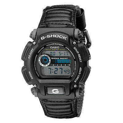 New Casio Men's DW-9052V-1CR G-Shock Digital Quartz Canvas Strap Grey Watch