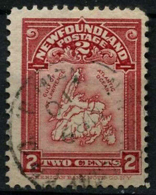 Newfoundland 1908 SG#94 Map Used #D44578