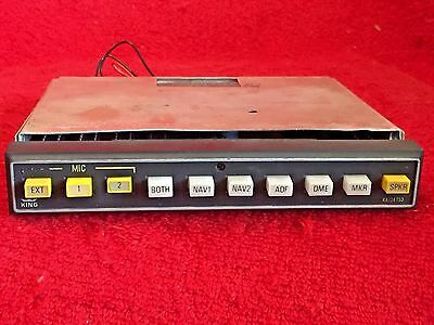 King Ka 134 Audio Panel P/n 071-2009-02 With Tray And Conector