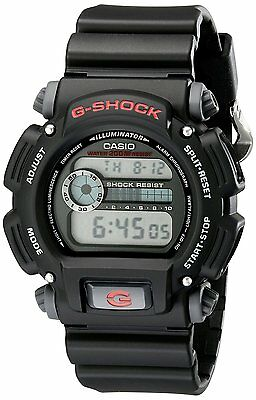 Casio Men's DW9052-1V G-Shock Black Stainless Steel and Resin Digital WristWatch