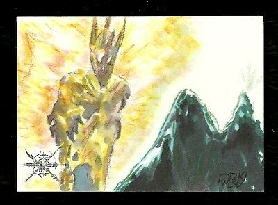 The Hobbit The Battle of the Five Armies 1/1 Fine Art Sketch by Ted Dastick Jr