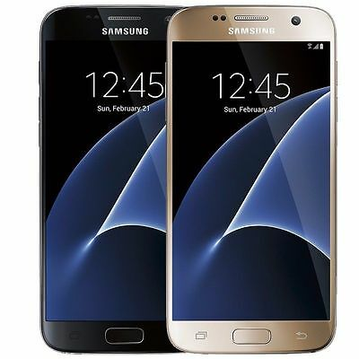Samsung Galaxy S7 32GB (Verizon / Straight Talk / Unlocked ATT GSM) Black Gold