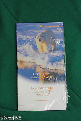 1996 CANADA New Bimetallic Uncirculated Toonie coin - in original pamphlet