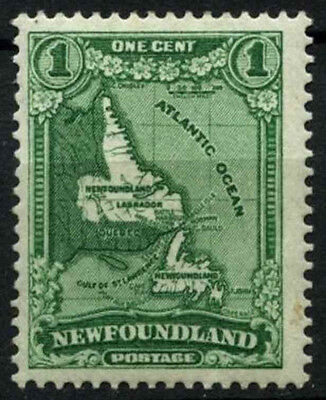 Newfoundland 1931 SG#198, 1c Green Map MH #D44627