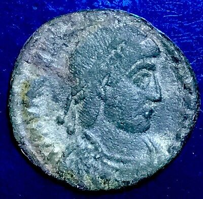Valentinian The Great. AE3. Uncleaned And Unresearched. Ancient Roman Coin.
