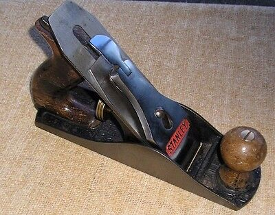 """Stanley Bailey No. 4 Smoothing Plane, 9 3/8"""" X 2 3/8"""" With A 2"""" Iron."""