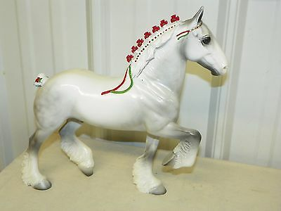 Peter Stone #9738 Holiday Horse 1998 Silver Dapple Drafter CLYDESDALE SIGNED