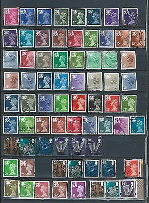 1971 QEII  WALES EXCELLENT SELECTION OF 71 VFU DIFFERENT STAMPS  to 68p (2)