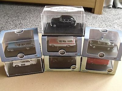 Oxford Job Lot Of 7 Cars 1:76 Scale For Railways