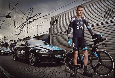 Chris Froome ~ Three-Time Tour De France Winner ~ Hand-Signed 12X8 Photo + Coa