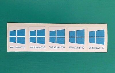 5x Windows 10 | Blue Cyan Color Sticker Case Badge Logo Decal Win 10 USA Seller!