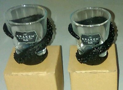Kraken Rum Tentacle Wrapped Shot Glass Pair
