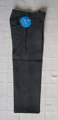 Vintage Boys Tailored Trousers - Age 4-5- Approx- Grey - Zip Front - New