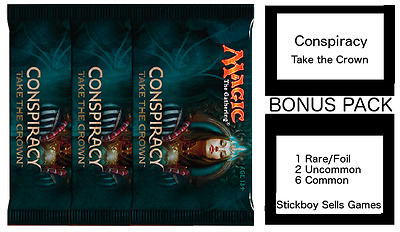Conspiracy 2 Draft Pack - 3 x NEW SEALED MtG Boosters + BONUS Prize pack