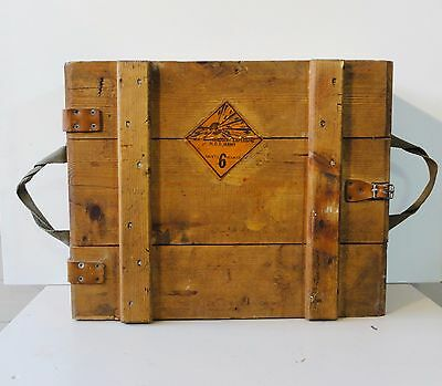 Old Vintage Wood Wooden Small Arms Ammunition Amo Crate Box