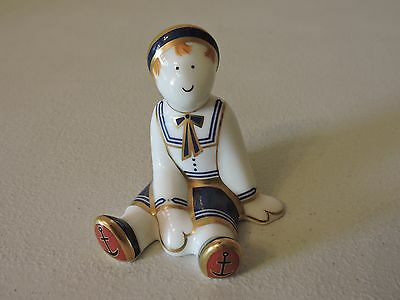 Royal Crown Derby RAG DOLL SAILOR Mini Paperweight - Boxed
