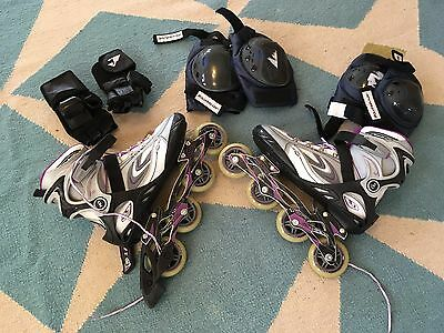 Roller Derby Women's Aerio Q-80 Inline Skate  Size 9  Barely used  Includes pads