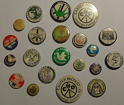 Collection of Vintage CND, Greenham Common Protest Badges