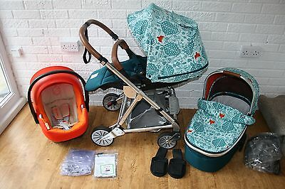 Mamas & Papas Urbo 2 Donna Wilson Fox Pram travel system 3 in 1