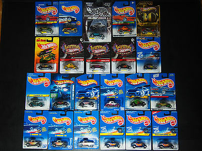 Lot Of 22 Mattel Hot Wheels 3-Window '34 Fords (1991 - 2011) Toy Car Vehicle Mip