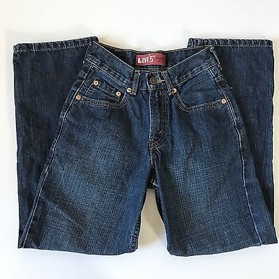 Levi's 550 Kids Jeans Denim Boys Girls Relaxed Fit Pants size 12 Slim 24 Waist