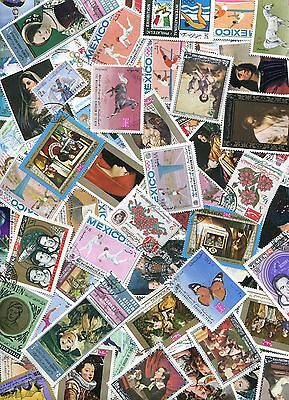 Accumulation of 210 stamps from Yemen used and unused