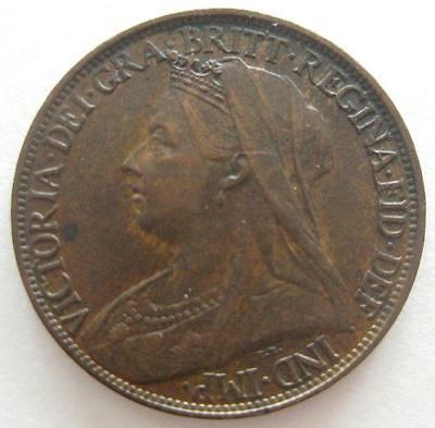 Great Britain Farthing 1899 XF  Queen Victoria  #121