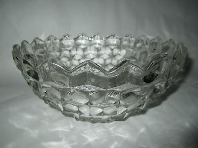 Large American Fostoria Cubed Glass Bowl