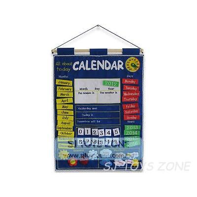 My Calendar Blue Cloth Wallhangings Learning Activity Kids Toy & Gift
