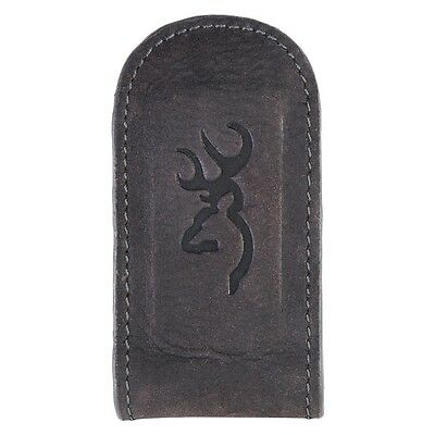 Browning Buckmark Leather Money Clip - Men's Accessories - Black