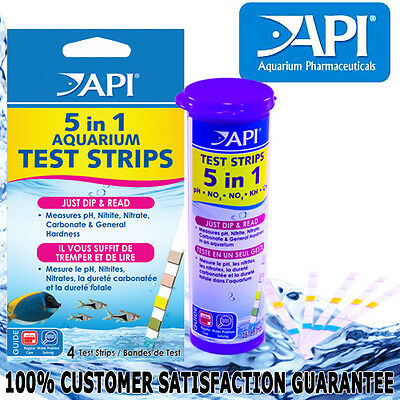 API Aquarium Fish Tank 5 in 1Test Strips Kit PH Nitrate Nitrite GH KH GENUINE