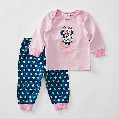 NEW Disney baby Minnie Mouse Jersey Flannelette Pyjama Set