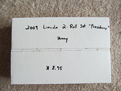 """2009 Lincoln Cent Two-Roll (P&D) Mint Box Set - """"Presidency"""" design [LP4]"""