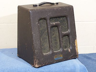 VINTAGE LATE 40s 1950 MEC MAGNA 10 INCH COMBO TUBE GUITAR AMP MAGNATONE M-192-5