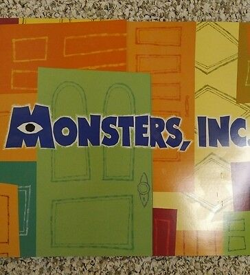 Disney Store Monsters Inc lithograph set