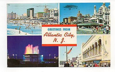 Greetings From Atlantic City New Jersey Vintage Postcard, Oct15