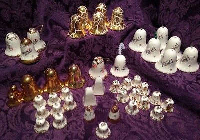 45 Ceramic Bells For Christmas Or Some For 50th Wedding Anniversary