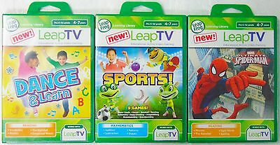 3 NEW Leap TV Games by LeapFrog - Sports - Dance & Learn - Spiderman