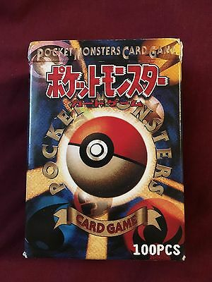Pokemon pocket monsters card game 100 pieces