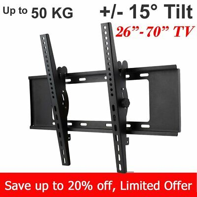 Tilt Slim TV Wall Mount Bracket 40 42 47 50 52 55 60 62 65 70LCD LED Plasma VESA