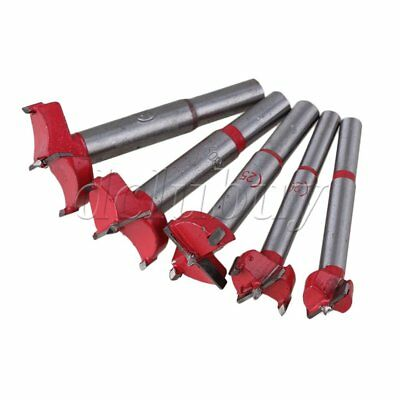 5pcs TCT Wood Hinge Boring Hole Saw Drill Bit Cutter Auger Carbide Kit 16-35mm