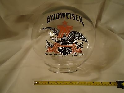 "Vintage Budweiser Glass Globe Peanut Gumball Dispenser Replacement 7"" Unused"