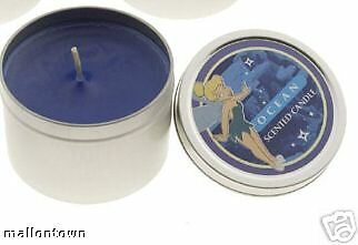 2 Disney Peter Pan Fairy Tinkerbell Ocean Scented Candle Set Girl Mom Gift